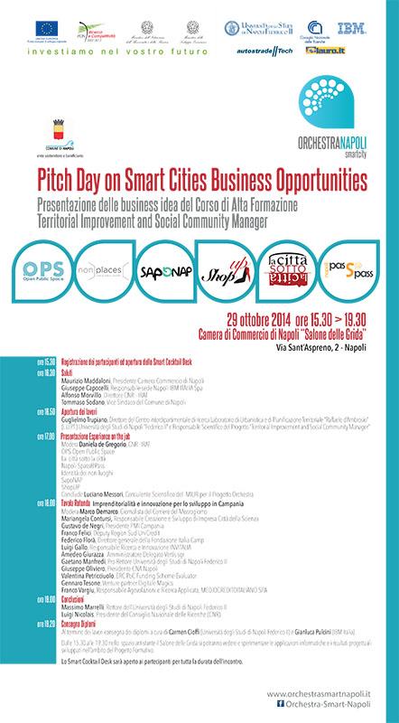 """Pitch Day on Smart Cities Business Opportunities   Presentazione delle business idea del Corso di Alta Formazione:  """"Territorial Improvement and Social Community Manager"""""""