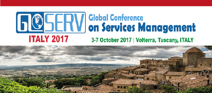 Global Conference on Services Management (GLOSERV 2017)