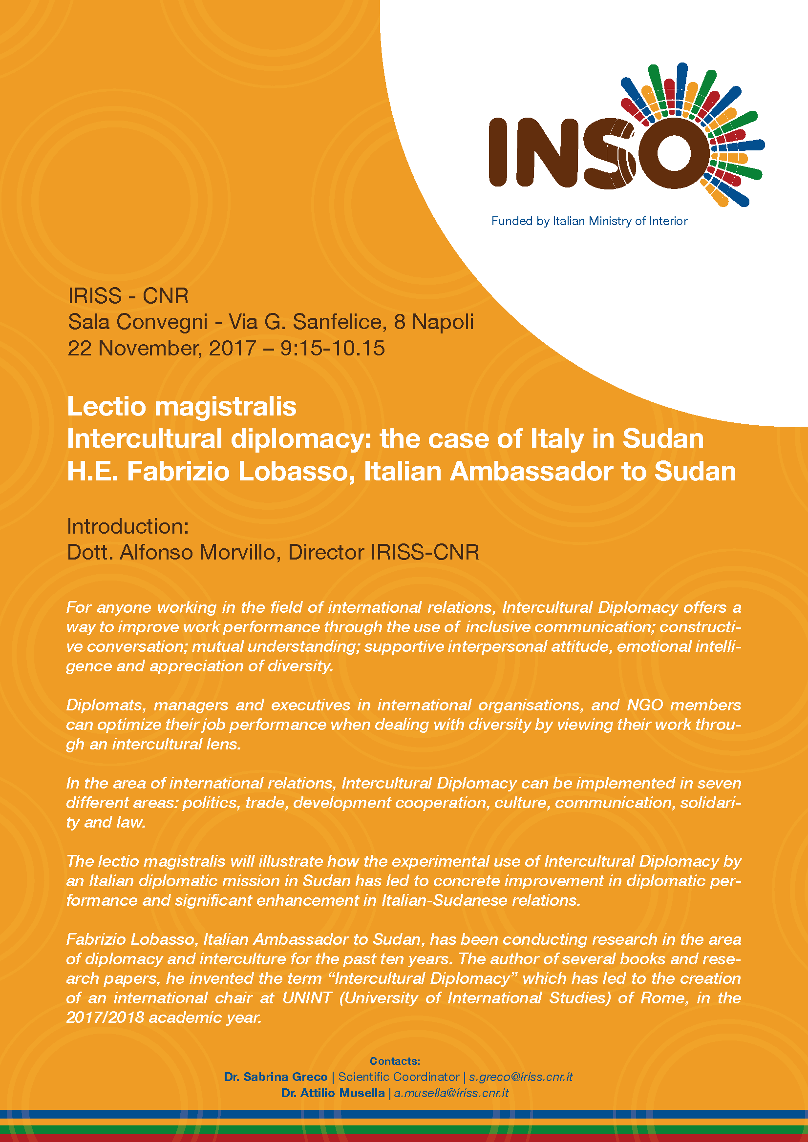 Lectio magistralis  Intercultural diplomacy: the case of Italy in Sudan