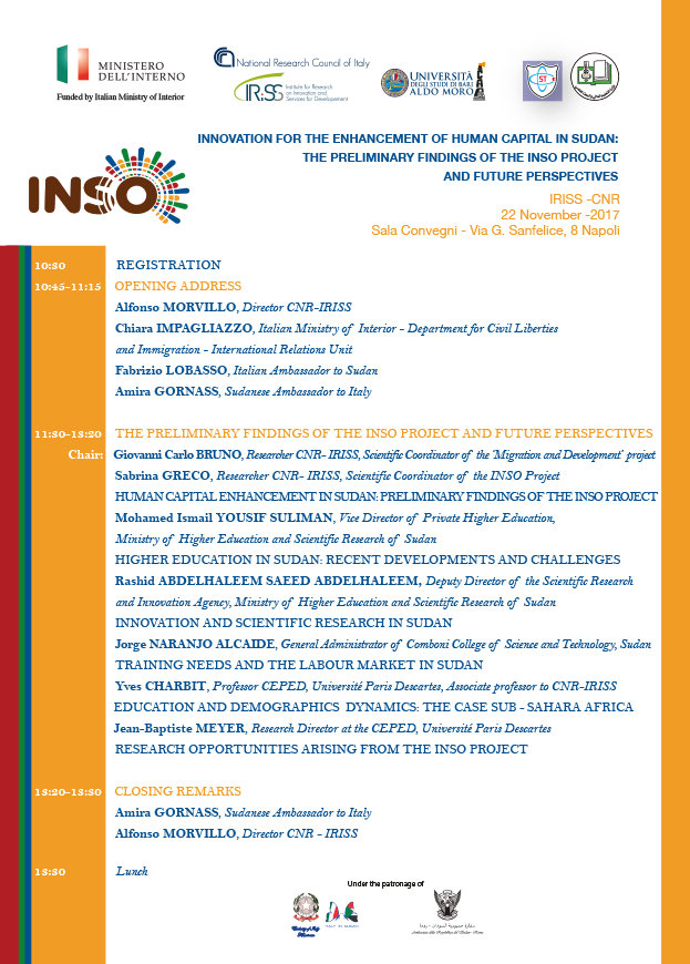 Innovation For The Enhancement Of Human Capital In Sudan: The Preliminary Findings Of The Inso Project And Future Perspectives