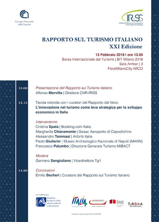 Presentazione del Rapporto sul Turismo Italiano (XXI EDIZIONE - 2016/2017)