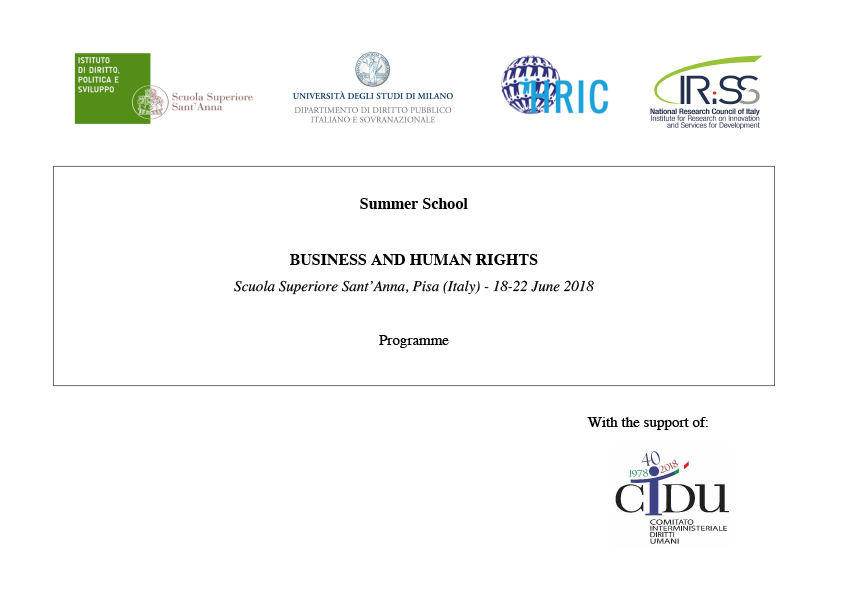 "Summer School ""Business and Human Rights"""