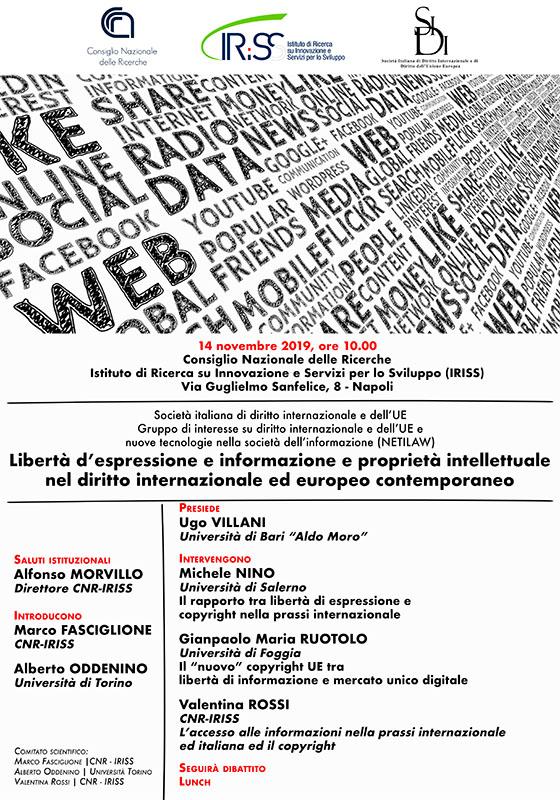Libertà di espressione e informazione e proprietà intellettuale nel diritto internazionale e contemporaneo