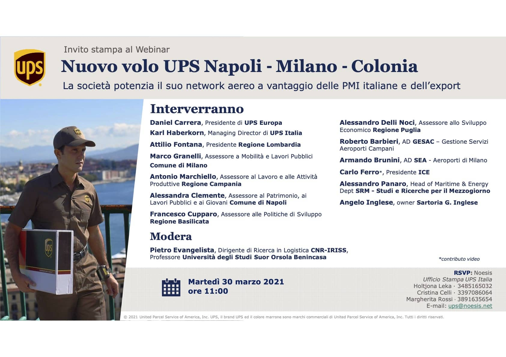 Presentazione del nuovo volo UPS Napoli - Malpensa - Colonia